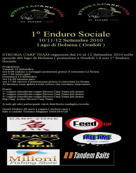A Bolsena la 1a Enduro Sociale Etruria Carp