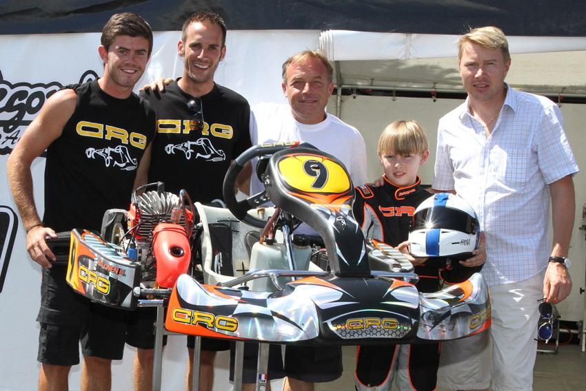 Pioggia sulle qualificazioni del Campionato Italiano CSAI Karting al Circuito di Viterbo