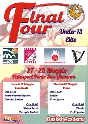 Basket: Final Four U13 Elite, Orvieto c'è
