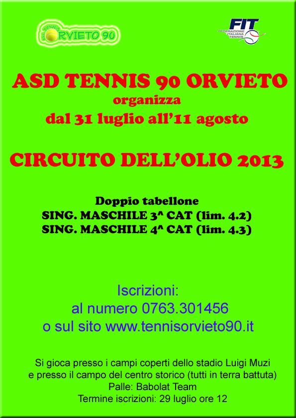 Tennis. Circuito dell'Olio via alle iscrizioni