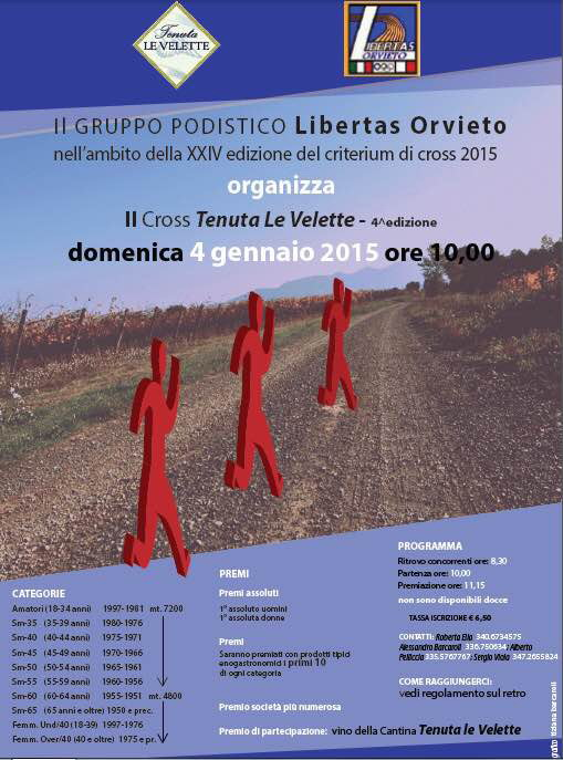 Si corre oggi domenica 4 gennaio il 4° Cross Tenuta le Velette