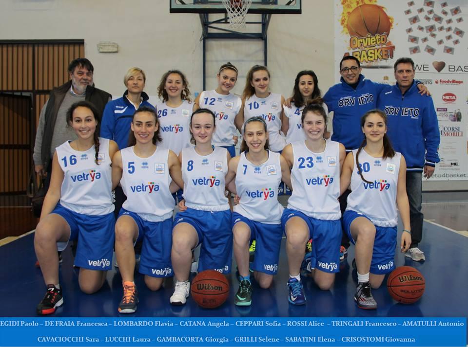Giovanili – La Azzurra Vetrya U 17 prepara la Final 3 in programma a Perugia il 29 – 30 aprile
