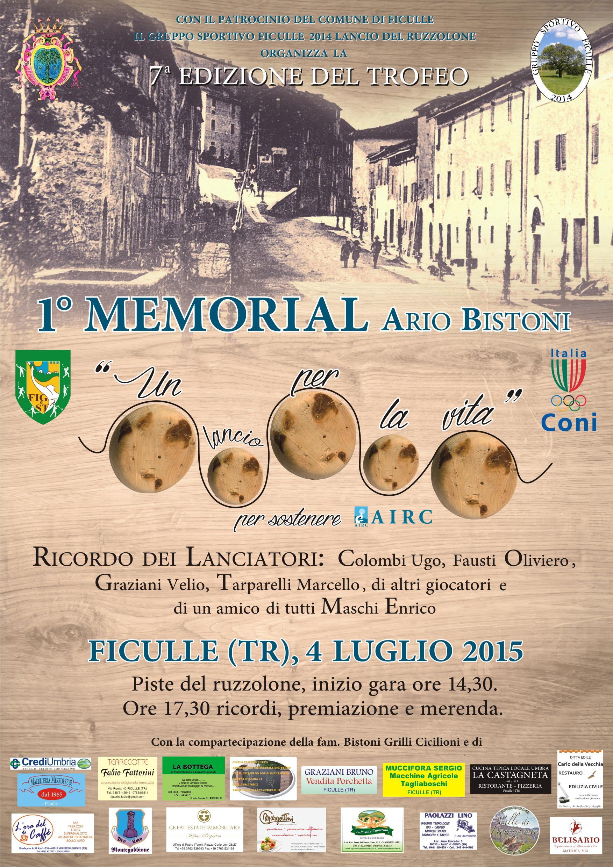 """A Ficulle la 7a edizione del Trofeo """"Un lancio per la vita""""- 1° Memorial """"Ario Bistoni"""""""