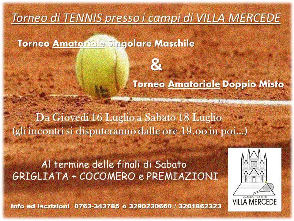 """Torneo di Tennis """"Villa Mercede"""""""