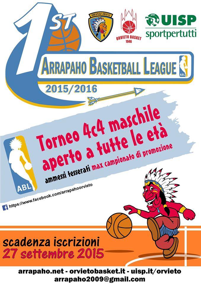 """Arrapaho Basket League"" – tutte le info e i documenti per partecipare"