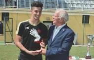 Mattia Sorci premiato come miglior portiere al torneo Internazionale Nereo Rocco di Firenze