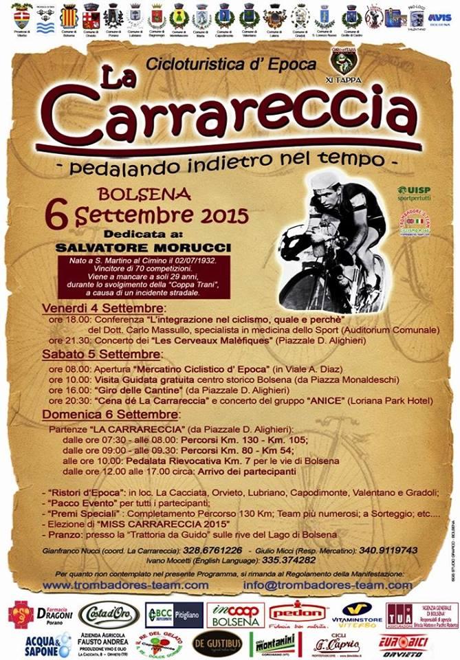 La Carrareccia passa a Orvieto. Domenica 6 a Piazza della Repubblica