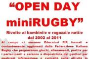 Open Day al Mini Rugby. Riparte la stagione della palla ovale