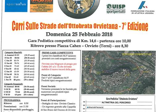 """""""Corri sulle strade dell'Ottobrata"""". Gara podistica alla 7a edizione"""