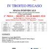 Scherma, torna a Orvieto il Trofeo Pegaso, attesi 160 schermidori
