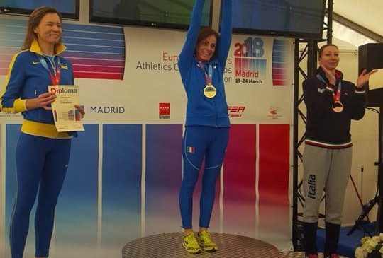 Valeria Pedetti sul tetto d'Europa. Oro ai Campionati Master indoor di Madrid