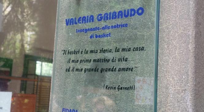 """La palestra della """"Signorelli"""" intitolata alla memoria di Valeria Gribaudo"""