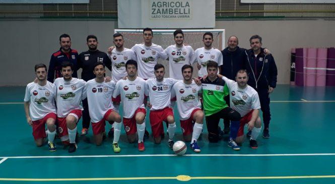 Orvieto Fc, prima squadra calcio a 5, nove reti al Ponte San Lorenzo