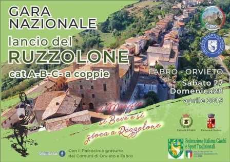 Orvieto-Fabro. Gara Nazionale lancio del ruzzolone 27-28 aprile